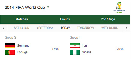 World Cup Matches Today